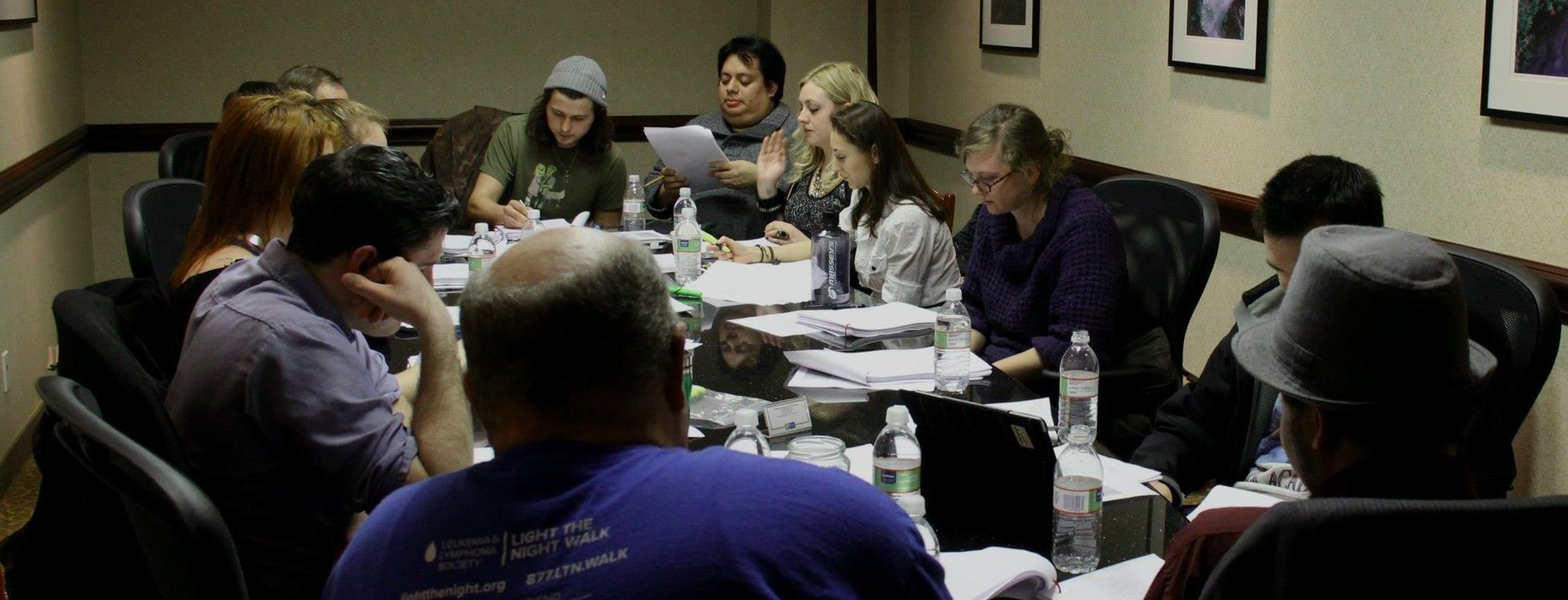 Film-making Team Read-through of Feature Film Script